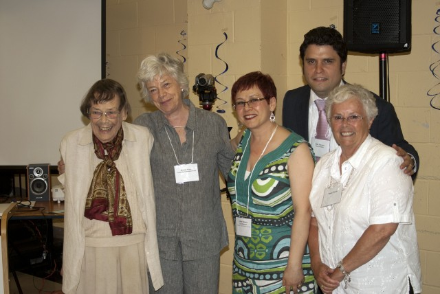Charlotte Maher (far left) was honoured with the Sir James Woods award for community development in 2012.