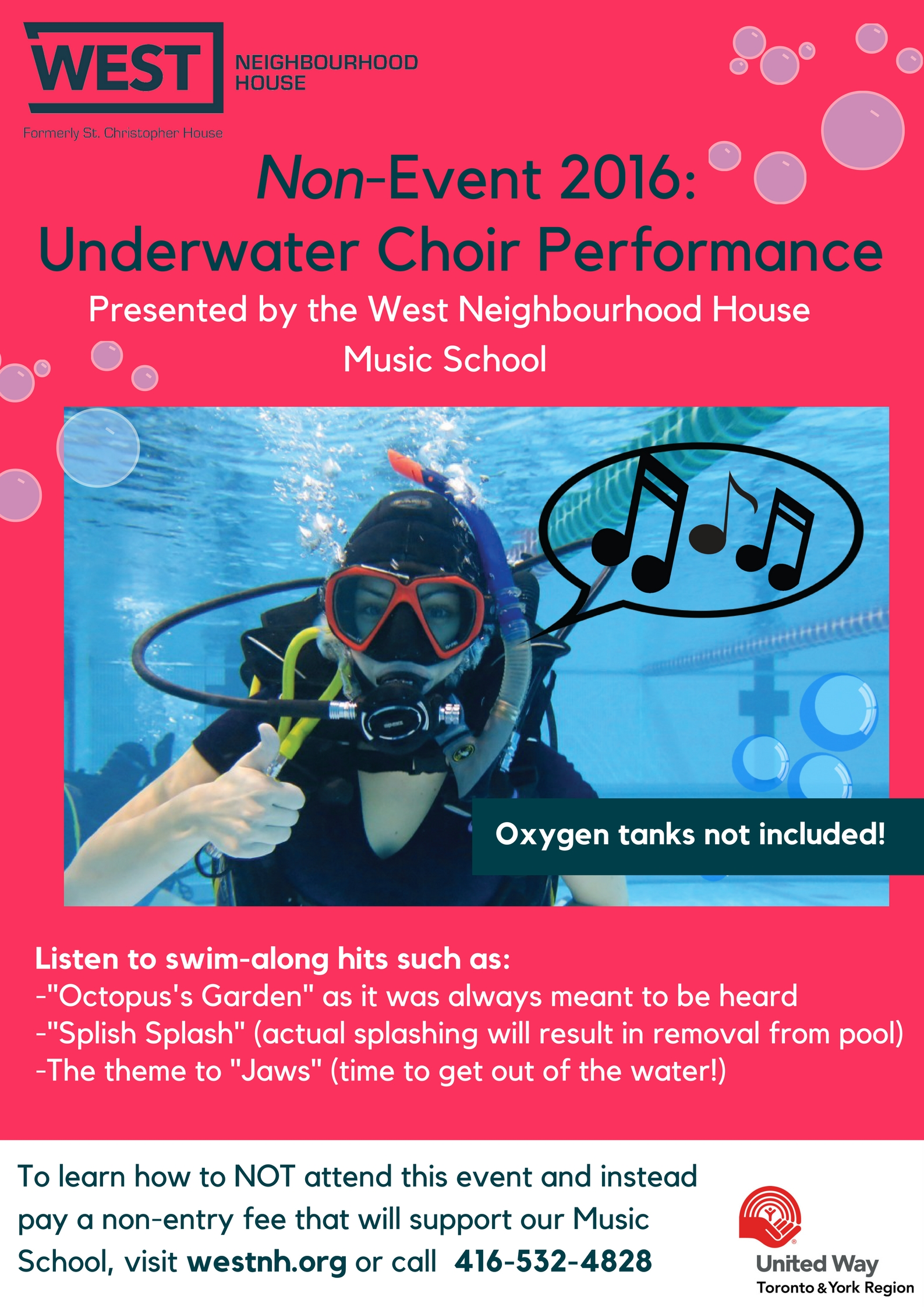 Non-Event 2016 : Underwater Choir Performance