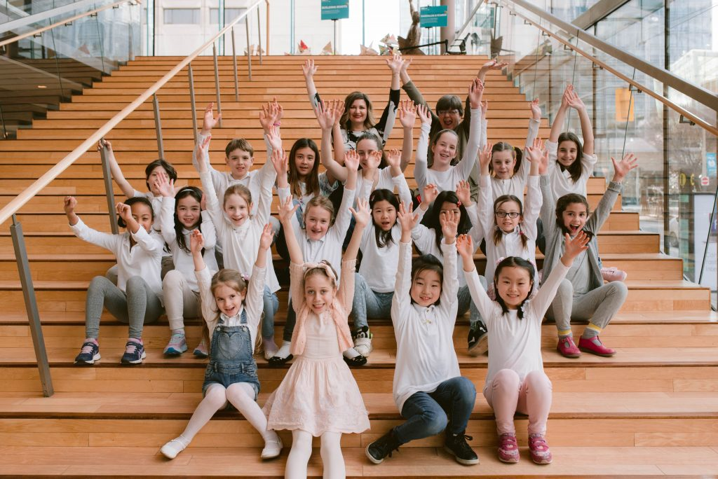 Members of the Common Thread Kids Choir got their first taste of the stage by performing as gingerbread children in a production of Hansel and Gretel at the Canadian Opera Company in February 2019