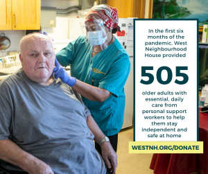 since the pandemic we've provided essential care to 505 seniors