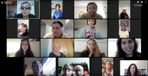 anabela teaches students and seniors on zoom